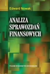Analiza sprawozdań finansowych - Edward Nowak | mała okładka