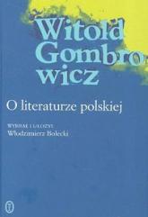 O literaturze polskiej - Witold Gombrowicz | mała okładka