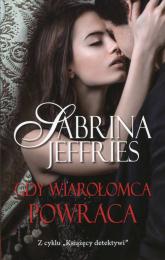Gdy wiarołomca powraca - Sabrina Jeffries | mała okładka