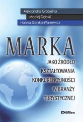 Marka jako źródło kształtowania konkurencyjności w branży turystycznej - Grobelna Aleksandra, Dębski Maciej, Górska-Warsewicz Hanna | mała okładka