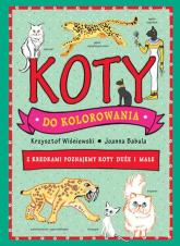 Koty do kolorowania Z kredkami dookoła świata - Wiśniewski Krzysztof, Babula Joanna | mała okładka