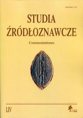 Studia źródłoznawcze Tom 54 -  | mała okładka