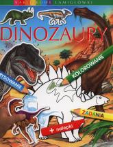 Dinozaury Naklejkowe łamigłówki - Emilie Beaumont | mała okładka