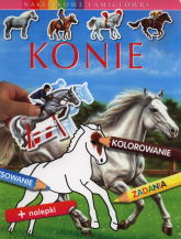 Konie Naklejkowe łamigłówki - Emilie Beaumont | mała okładka