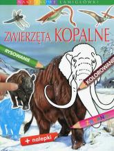 Zwierzęta kopalne Naklejkowe łamigłówki - Emilie Beaumont | mała okładka