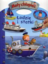 Mały chłopiec Łodzie i statki Naklejki Duża plansza -    mała okładka