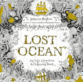 Lost Ocean An Inky Adventure & Colouring Book - Johanna Basford | mała okładka