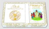 Pamiątka I Komunii Świętej Zestaw Pamiątka / Biblia / Torba prezentowa -  | mała okładka
