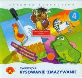 Rysowanie-zmazywanie 4 Zwierzątka Zabawka edukacyjna -    mała okładka