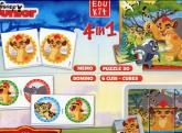Puzzle EduKit 4w1 Król Lew -  | mała okładka