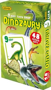 Dinozaury karty snap 9 gier rodzinnych -    mała okładka