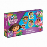 Puzzle dla maluszków Dora poznaje świat -    mała okładka