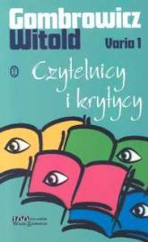 Varia 1 Czytelnicy i krytycy - Witold Gombrowicz | mała okładka