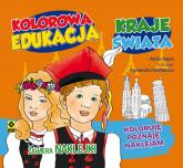 Kolorowa edukacja Kraje świata Naklejka - Anita Rejch | mała okładka