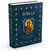 Biblia domowa w obwolucie z MB Częstochowską - Kazimierz Romaniuk   mała okładka