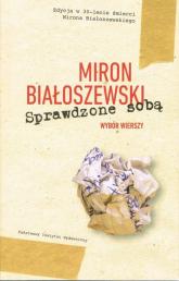 Sprawdzone sobą Wybór wierszy - Miron Białoszewski | mała okładka