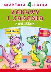 Akademia 4-latka. Zabawy i zadania z naklejkami - Joanna Paruszewska | mała okładka