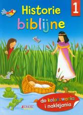 Historie biblijne 1 Do kolorowania i naklejania -  | mała okładka