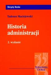 Historia administracji - Tadeusz Maciejewski | mała okładka