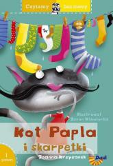 Czytamy bez mamy Kot Papla i skarpetki Poziom 1 Pierwsze kroki - Joanna Krzyżanek | mała okładka