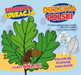 Kolorowa edukacja Drzewa Polski naklejki - Kryciński Michał, Jędrzejewska-Szmek Krystyna | mała okładka