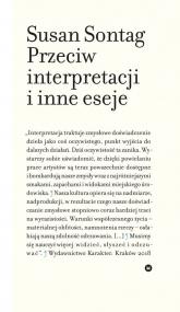 Przeciw interpretacji i inne eseje - Susan Sontag | mała okładka