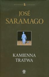 Kamienna tratwa - Jose Saramago | mała okładka