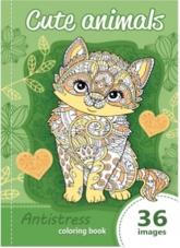 Kolorowanka antystresowa Cute animals -  | mała okładka