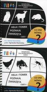 Hela i Tomek poznają zwierzęta Część 1-2 Pakiet. Książeczki dla najmłodszych dzieci - Hanna Gawrońska | mała okładka