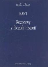 Rozprawy z filozofii historii - Immanuel Kant | mała okładka