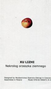 Nekrolog orzeszka ziemnego - Xu Lizhi   mała okładka