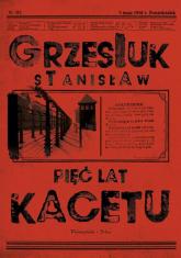 Pięć lat kacetu - Stanisław Grzesiuk | mała okładka