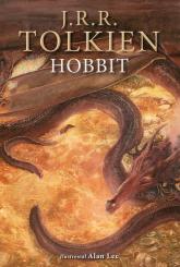 Hobbit wersja ilustrowana - J.R.R. Tolkien | mała okładka