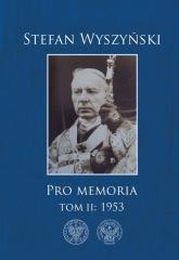 Pro memoria Tom 2 1953 - Stefan Wyszyński | mała okładka