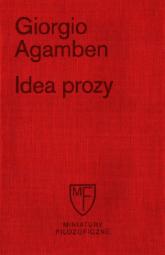 Idea prozy - Giorgio Agamben | mała okładka