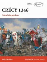 Crecy 1346 Triumf długiego łuku - David Nicolle   mała okładka