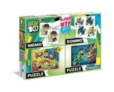 Superkit Ben 10 Puzzle 2x30 +Memo +Domino -    mała okładka