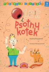 Pierwsze czytanki Olek i psotny kotek poziom 1 - Joanna Krzyżanek | mała okładka