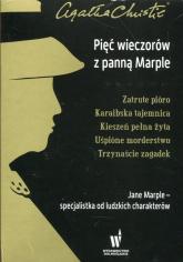 Pięć wieczorów z panną Marple Zatrute pióro / Karaibska tajemnica / Kieszeń pełna żyta / Uśpione morderstwo / Trzynaście zagadek Pakiet - Agatha Christie | mała okładka