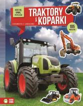 Uczę się bawię przyklejam Traktory i koparki -  | mała okładka