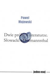 Dwie próby o literaturze - Paweł Majewski | mała okładka