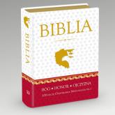 Biblia Domowa w obwolucie patriotycznej - Kazimierz Romaniuk | mała okładka