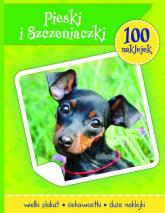 Psy i szczeniaczki książeczka z plakatem i 100 naklejek -  | mała okładka