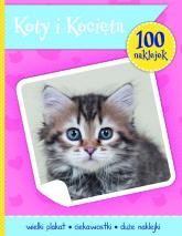 Koty i kotki książeczka z plakatem i 100 naklejek -  | mała okładka