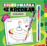 Kolorowanka z kredką Zabawki - Marcin Południak | mała okładka