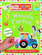 Wesoła farma Książeczka z dużymi naklejkami dla małych rączek -  | mała okładka