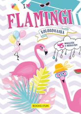 Kolorowanka Flamingi z naklejkami -  | mała okładka