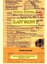 Ślady wojny - Barbara Derlicka   mała okładka