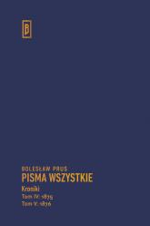 Kroniki t. IV (1875), t. V (1876) - Bolesław Prus | mała okładka
