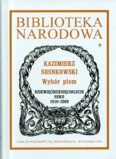 Wybór pism - Kazimierz Sosnkowski | mała okładka